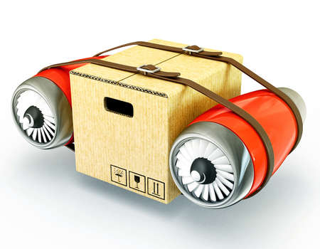 delivery concept isolated on a white 3d illustration
