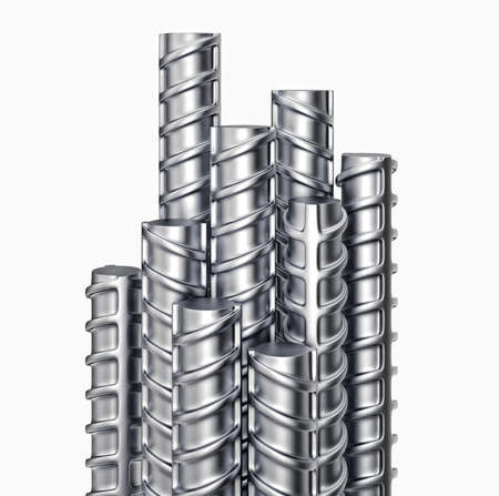 reinforcing: Metal reinforcements isolated on a white. 3d illustration