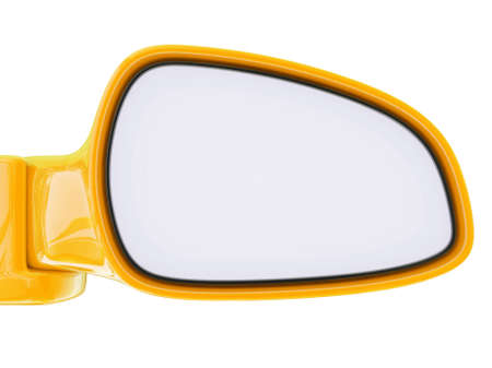 Conceptual 3d illustration on a isolated background. car mirror Stock Photo