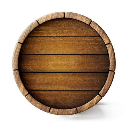 old barrel background isolated on white. 3d illustration