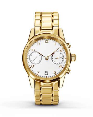 白で隔離された腕時計。3Dイラスト