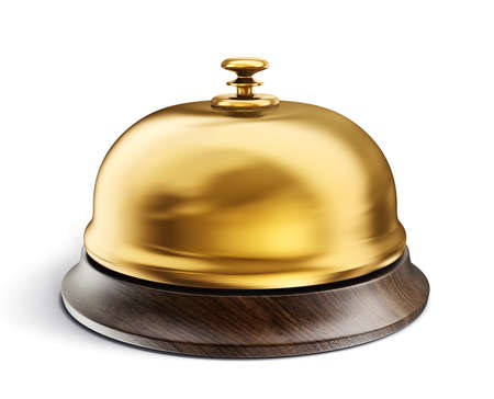 service bell isolated on a white. 3d illustration