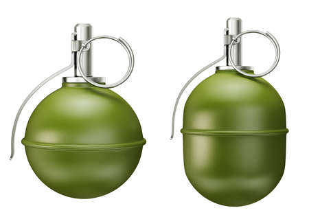 grenades isolated on a white. 3d illustration