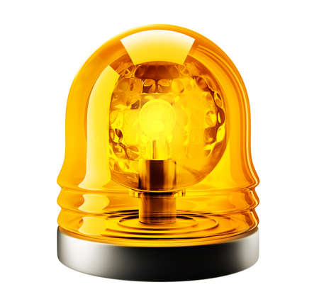 yellow siren isolated on a white background. 3d illustration