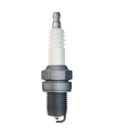 spark plug isolated on white background. 3d illustration