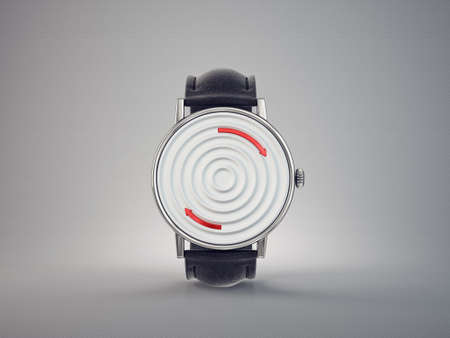 wrist watch. time accessory isolated on white. 3d illustration Reklamní fotografie