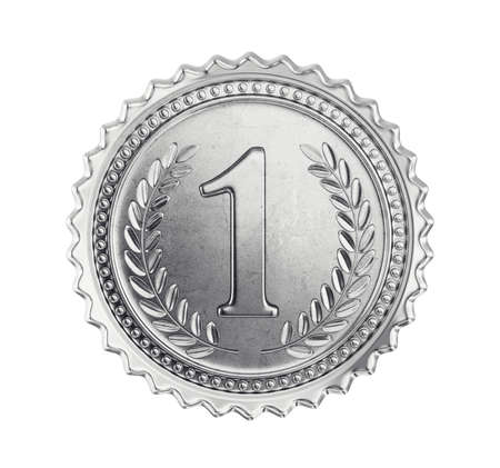 silver medal isolated on a white. 3d illustration