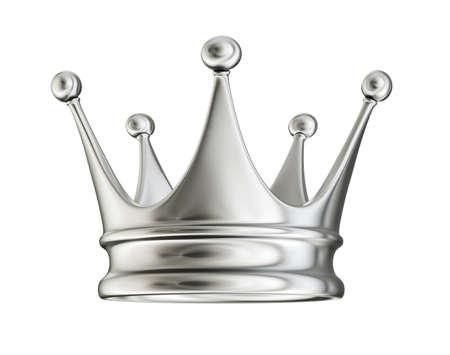 golden crown isolated on a white. 3d illustration Standard-Bild