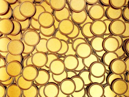 golden coins isolated on a white. 3d illustration Standard-Bild