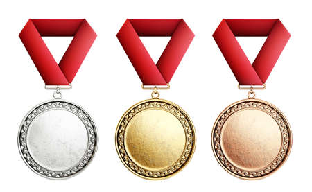 medal award isolated on a white. 3d illustration