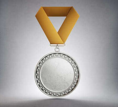 medal award isolated on a grey background. 3d illustration