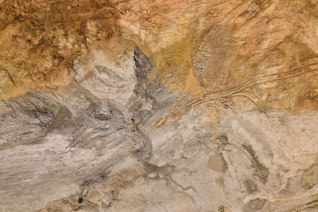 aerial view of desert landscapes, Abstract Naturalism, from the abstract to the figurative, contemporary photo art, Aerial photo of red dirt sandy background texture top view