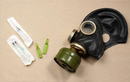 A gas mask and antidote