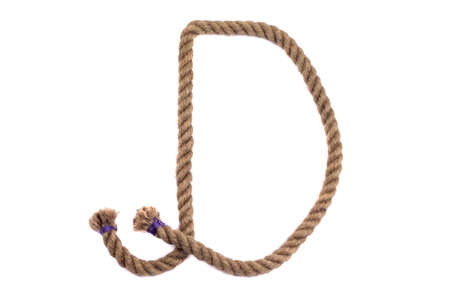 Alphabet from the rope letter d