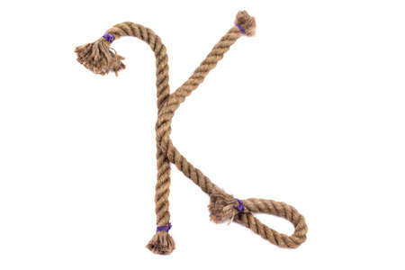 Alphabet from the rope letter k