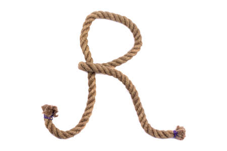 Alphabet from the rope letter r