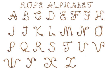 Alphabet from the rope letter