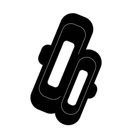 Reusable gaskets icon in flat style. Vector image in white background. Zero waste toothbrush. Eco life