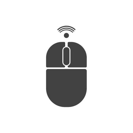 Wireless mouse icon isolated on white bakcground