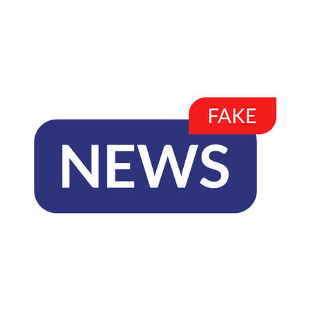 Fake news icon logo isolated vector illustration Vettoriali