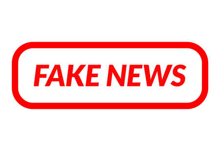 Fake news simple rubber stamp icon isolated vector