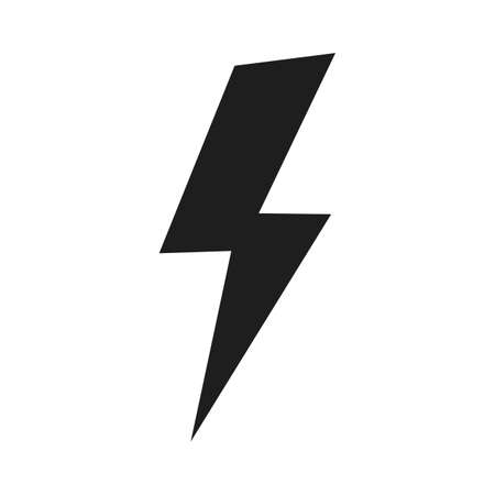 Lighting bold icon. Power electric sign vector isolated