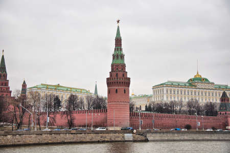 The panoramic view of Kremlin in Moscow photo