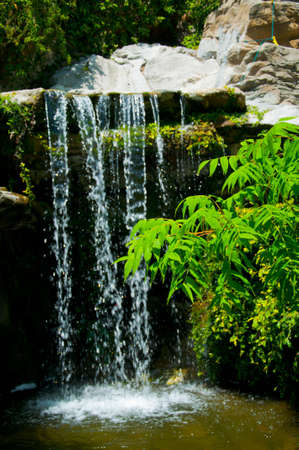waterfall in Zoo of Los Angeles photo