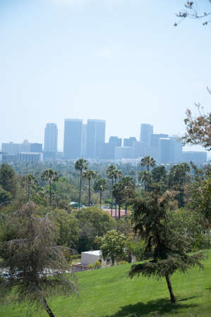 Los Angeles skyscrapers and Hollywood Skyscrapers. California photo