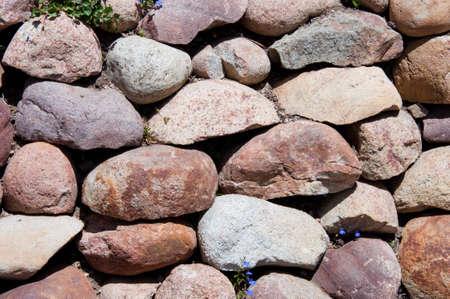 stone mason: stones in brown colors