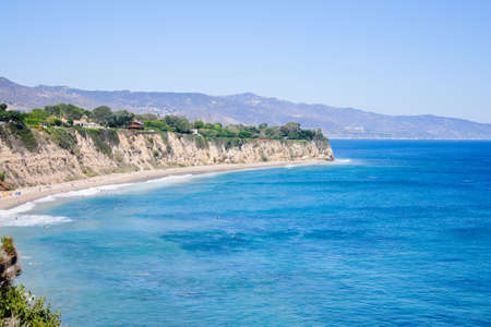 zuma: view from Duma Point, Malibu California Stock Photo