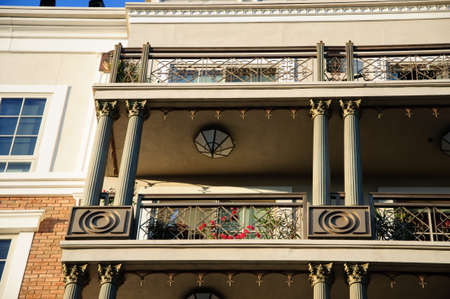 generic location: Facade of classical residental building in Los Angeles USA
