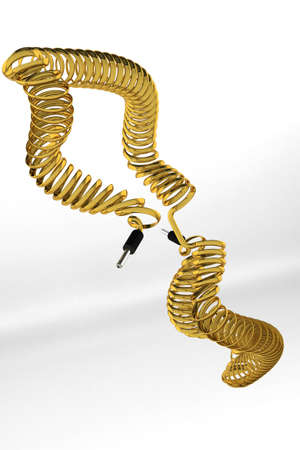 minijack: Wire made of gold. Goldplated wire.