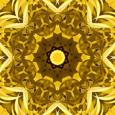 tiles floor: Symmetrical decorative patterns, 3D illustration multicolored.