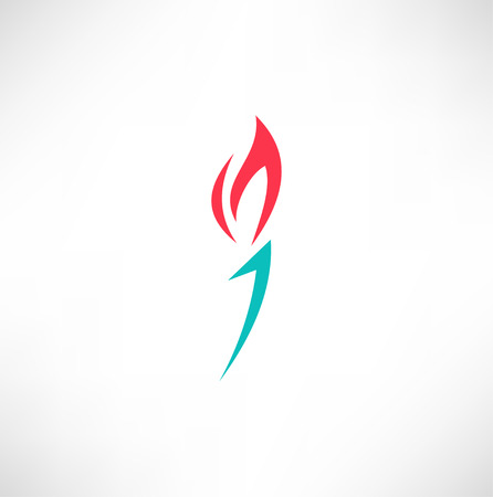 Burning torch icon Vector