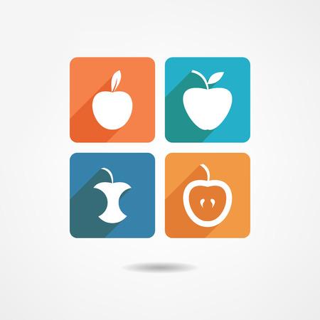 apple bite: Apple set icon