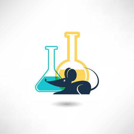 Experimental mouse icon Illustration