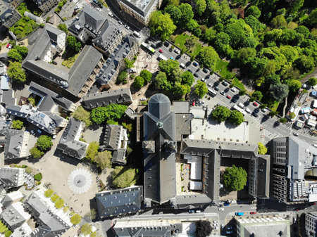 Beautiful view from above, Luxemburg. The capital of Kingdom Luxemburg. Small European country with great culrure and outstanding landscapes. Aerial photo created by drone.