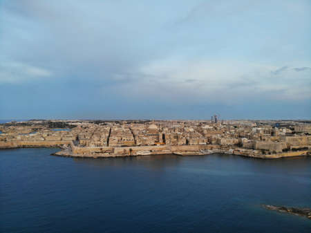 Malta from above. New point of vief for your eyes. Beautiful and Unique place named Malta. For rest, exploring and adventure. Must see for everyone. Europe, island in Mediterian Sea.