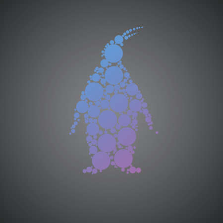 Arctic pinguin vector silhouette. Animal illustration on background. Good for logo, icon or brand desing. From creative collection.
