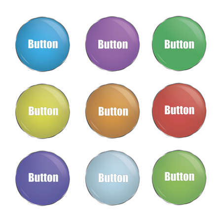 Simply button, green and blue. good for any act like download or whar you choose you choose. Isolated on white background with space for writing. most relevant color Illusztráció