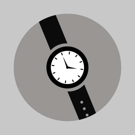 Watches, clock vector illustration with simple but unique design. Good for icon, logo, wallpers, background. Flat style graphic objects Illusztráció