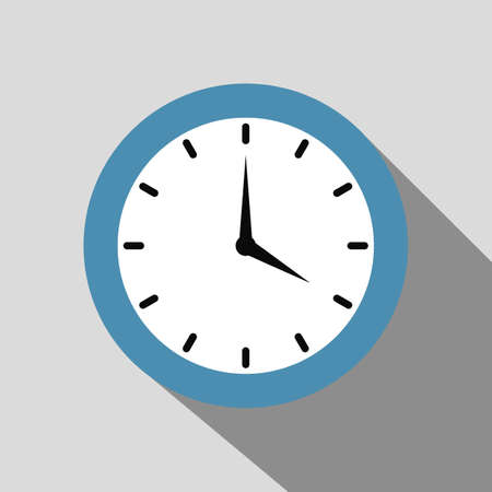Alarm clock vector illustration with simple but unique design. Good for icon, logo, wallpers, background. Flat style graphic objects