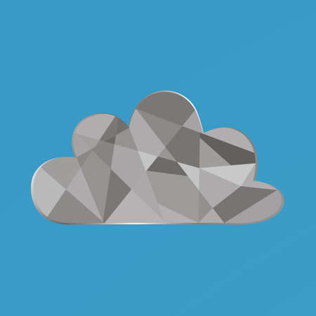 Simply flat cloud vector illustration. Cloud symbol for your design, web site, brand logo, app, UI, background. Trendy flat style with amazing color. From cloud set.