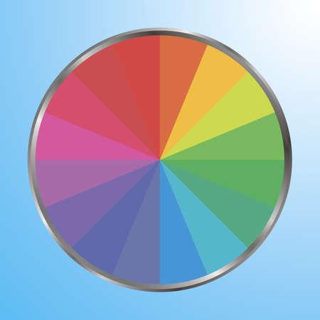 Amazing color palette vector illustration. Good for logo, web, desingn. Simply and trendy flat desing for inspiration