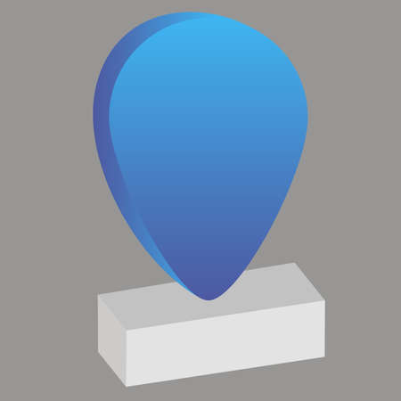 Simply but amazing vector geolocation map pin. good for show your place, destination or for brand logo. Flat design. From geotag set