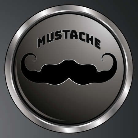 Black mustache creative flat retro desing. Simply and trendy design. Amazing fit for brands, logo, barbershop, background. Mustache set isolated on white background with shadow  イラスト・ベクター素材
