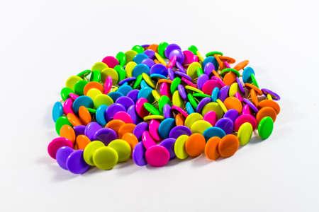 Colorful thumbtacks Banque d'images