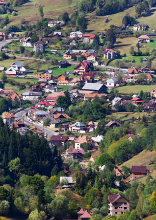 Traditional village from the Carpathian Mountains in  Romania Stock Photo - 17350940