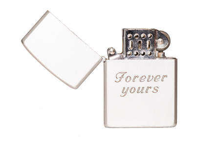 Cigarette lighter with message  forever yours  photo